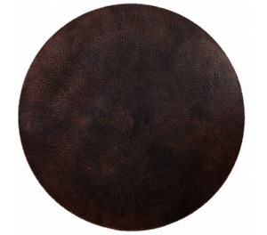 """36"""" Round Hammered Copper Table Top Conference Room Luxury Table Antimicrobial"""