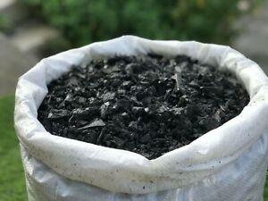 ECO Grey Decorative Rubber Garden Mulch / Play Bark chippings- Mulch 20kg /Bag