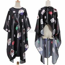 Pro Poker Adult Salon Hair Cut Hairdressing Barbers Hairdresser Cape Black Gown