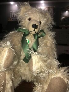 "Hermann LE 2000 Built In Time Capsule Millennium Bear 15"" Mohair Jointed Teddy"