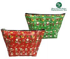 OH Fashion Cosmetic Bag Christmas Makeup Bag Vanity Case Christmas Gift Holidays
