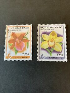 Burkina Faso Postage Stamps Orchid Flower Flora Theme