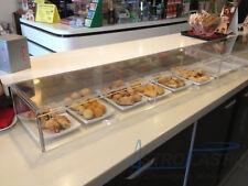 Vetrina in plexiglass porta brioche, cornetti, pane, dolci e alimenti - L 60 cm