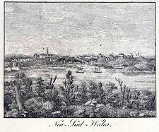 Neu-Süd-Wales seltene Ansicht um 1820 schönes Original!