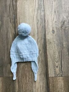 Baby Boy Blue Knitted Hat 0-6 Months