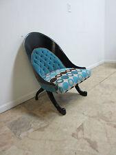 Funky Hollywood Regency Style Modern Scoop Back Fireside Lounge Club Chair A