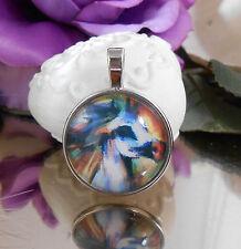 Ketten Anhänger Pferd Gemälde Style Glas Cabochon 25 mm - Amulett