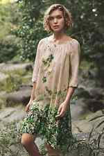 NEW Anthropologie Rainforest Silk Dress by Vanessa Virginia Green Floral $188 L