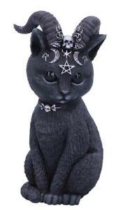 Pawzuph Horned Occult Pentagram Moons Cat Figurine. Nemesis. Pagan/Wiccan.11cm.