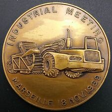 John Deere Medallion with Grader, Industrial Meeting, Marseille, 18 Nov 1969