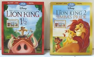 LOT OF 2 Disney Blu-Ray Discs - The Lion King 1 1/2 and The Lion King 2