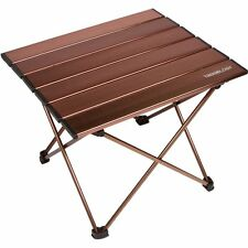 Trekology Camping / Beach Table with Aluminum Table Top – Portable Folding Tab