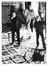 "1988 Cheap Trick photo ""Lap of Luxury"" Album Release vintage promo print ad"