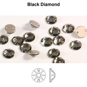 Genuine SWAROVSKI 3288 XIRIUS Round Flat Sew-On Stones Crystals * Many Sizes