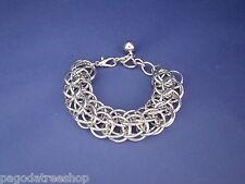 Woven Silver Links New Striking Bracelet of