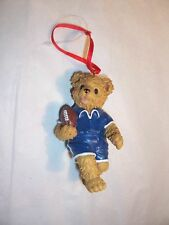 Bear With Football Ornament Christmas Decoration
