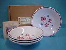 Longaberger ~ STARS & STRIPES American BOWLS ~ Set of 4 Melamine Red White Blue