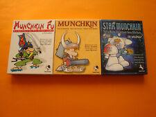 Munchkin (unbespielt) + Star Munchkin + Munchkin Fu
