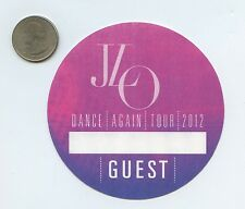 JENNIFER LOPEZ - Dance Again Tour 2012 Unused GUEST Pass - J LO JLO