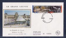 enveloppe 1er jour  bicentenaire musée du Louvre  Paris    1993
