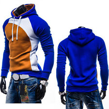 Fashion Mens Fitted Hooded Sweater Hoodies Winter Warm Jacket Coat Jumper Tops