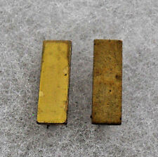 PAIR WWII USMC 2ND LT SHIRT COLLAR BARS PIN BACK H&H IMPERIAL MARKED