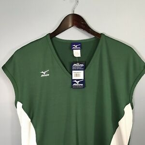 Mizuno Athletic Top Pullover New Men's Top XL Extra Large Sleeveless Green White