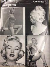 "Marilyn Monroe Sticker Set Of Four 2.25""x2.5"""