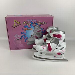 American Ice Skates Size 10Y-13Y 360 Party Girl Adjustable Figure Skates