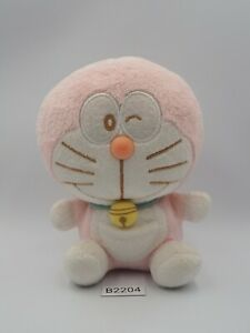 "Doraemon B2204 Pink NO TUSHTAG Plush 5.5"" Stuffed Toy Doll Japan"