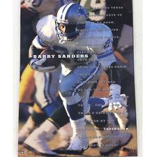 Vintage Barry Sanders Detroit Lions Poster NEW Costacos 1995 NFL Football