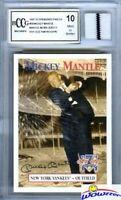 1997 Scoreboard #58 Mickey Mantle YANKEES WORN JERSEY Beckett 10 MINT GGUM