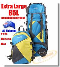 85L Top $ Bottom Load Large Outdoor Bag Camping Backpack Hiking Rucksack Daypack