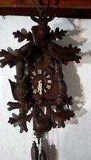 Large Vintage Hunter Cuckoo Clock Awesome!