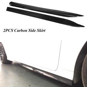 Carbon Fiber Side skirt Extension Lip Fit for Lexus GS350 F-Sport Bumper 2012-15