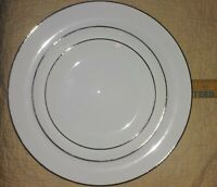 Vintage Sango Silver Snow 24255 Fine China, Set of 3: Dinner, Salad, Dessert