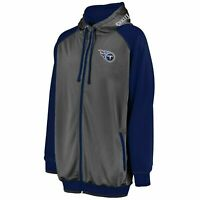 NFL Tennessee Titans Full Zip Moisture Wicking Hoodie Big & Tall 2X 3X 4X 5X