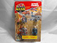 M.A.S.K. ACTION FIGURE MATT TRAKKER AND MILES MAYHEM CARDED, MOC