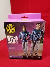 """Gold's Gym Adult Sauna Suit Xl/Xxl Fits Waist Sizes 42-50"""" Vinyl suit New in Box"""