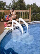 Einstelltreppe aus Kunststoff 4-Stufen für Becken bis 150cm Leiter Treppe Pool