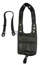 Genuine  Leather Shoulder Holster Wallet Security Money Body Belt Anti Theft