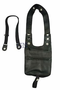 Genuine  Leather Shoulder Holster Wallet Security Money Body Belt Anti Theft