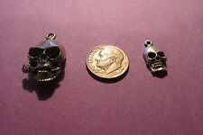 18  Pewter Skull   Charms Nine Of Each Pictured