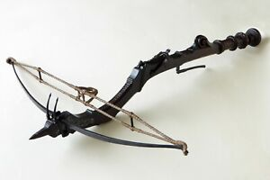 STONE CROSSBOW DATING 17TH CENTURY PROVENANCE TUSCANY IRON BOW WITH