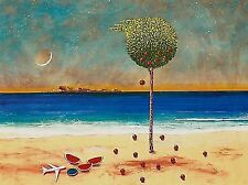 """Dimitris C. Milionis """"TREE"""" e.a. Signed Limited Edition Giclee Print Greece 2014"""