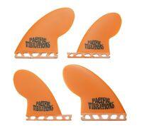 PACIFIC VIBRATIONS Compressor quad Futures SURFBOARD FIN SET NEW 4 FINS Orange