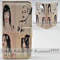 For OPPO Series - 4 Girls Theme Print Wallet Mobile Phone Case Cover