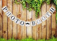 Photobooth EMPAVESADO Banner Vintage Boda lugar de encuentro Colgante Decoración