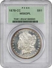 1878-CC $1 PCGS MS63 PL (OGH) - Old Green Label Holder - Morgan Silver Dollar