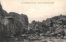 BR78368 le croisic dans les rochers de la cote  france